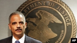 Attorney General Eric Holder speaks during a news conference in New Orleans, June 28, 2012.