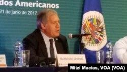 El secretario general de la OEA, Luis Almagro, espera que reunión de emergencia se produzca tan pronto como mañana viernes.
