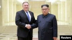 Ông Pompeo trong cuộc gặp với lãnh tụ Bắc Hàn.