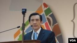 马英九发表就职六周年演说(美国之音张佩芝拍摄)