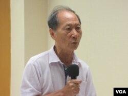 台湾前民进党立委简锡堦(美国之音张永泰拍摄)