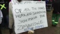Jubilation at anti-Mugabe March in Zimbabwe's Capital