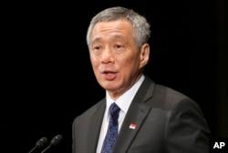 新加坡总理李显龙(2014年5月22日资料照片)
