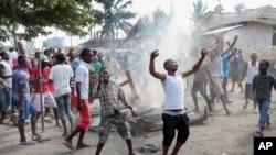 Des manifestants dans Bujumbura, 26 mais 2015