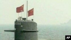 훈련중인 중국 해군 잠수함 (자료사진)
