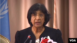 Komisaris HAM PBB Navi Pillay Kamis (16/1) mengecam berbagai eksekusi massal terhadap warga sipil di Suriah (foto: dok).