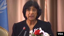 Komisaris Tinggi PBB Urusan HAM, Navi Pillay mencela kegagalan masyarakat internasional menghentikan pembantaian di Suriah (foto: dok).