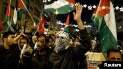希腊雅典发生示威,反对川普总统承认耶路撒冷为以色列首都