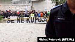 Protesti demobilisanih boraca pred Parlamentom Federacije BiH, 21. septembar 2017.