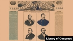 Detail from a campaign poster for the 1864 Presidential Election
