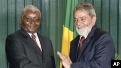 Armando Guebuza com o ex-presidente do Brasil, Lula da Silva