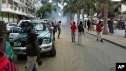 Junho de 2012. Manifestação dos veteranos de guerra em Luanda, Angola