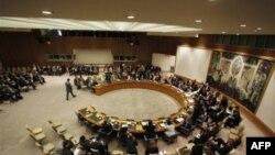 Генеральный секретарь ООН Пан Ги Мун выступает перед Советом Безопасности с речью о ситуации в Ливии.