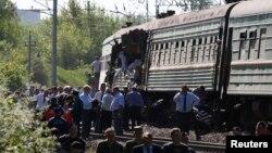На месте происшествия у подмосковного города Наро-Фоминск. 20 мая 2014 г.