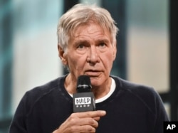 "Actor Harrison Ford participates in the BUILD Speaker Series to discuss the film ""Blade Runner 2049"" at AOL Studios, Sept. 27, 2017, in New York."