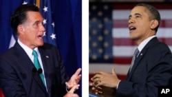 Ứng viên tổng thống của đảng Cộng hòa Mitt Romney và Tổng thống Obama