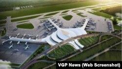 Mô hình sân bay Long Thành. Với tổng vốn đầu tư 16 tỷ USD, Long Thành sẽ là sân bay lớn nhất Việt Nam và thay thế sân bay Tân Sơn Nhất ở TPHCM để trở thành trung tâm hàng không của khu vực phía nam vào năm 2025 và nơi trung chuyển của khu vực Đông Nam Á và châu Á sau năm 2030.