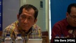 Politisi PAN Yandri Susanto dalam diskusi di Jakarta, Sabtu, 11 Oktober 2014 (Foto: VOA/Iris Gera)