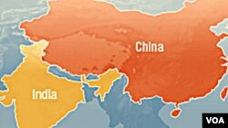 China-India-map