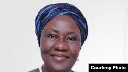 Comfort Aloremi Sonaiya, la seule femme candidate présidente de la république à l'élection présidentielle du 28 mars 2015.