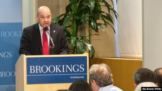 FILE - Lukman Faily, Iraq's Ambassador to Washington, speaking at the Brookings Institute, Sept. 18, 2013