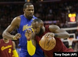 LeBron James and Kevin Durant will face each other in the NBA Finals for the second time.
