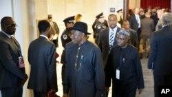 Tổng thống Nigeria Goodluck Jonathan tại Washington, ngày 4/8/2014.