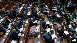 Thành viên của Ủy ban Ai Cập đọc bản dự thảo hiến pháp trước khi bỏ phiếu, 30/11/13