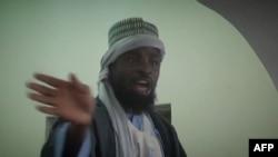 尼日利亚恐怖组织的领导人阿布巴卡尔·谢考(资料照片)
