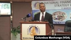 John Panonetsa Mangudya, governor of the Reserve Bank of Zimbabwe, Harare, Dec. 2020.