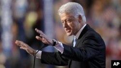 지난 2008년 콜로라도 덴버에서 열린 민주당 전당대회에서 연설하는 빌 클린전 전 미국 대통령.