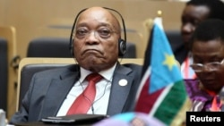 South Africa's President Jacob Zuma at the Assembly of Heads of State and Government of the African Union (AU) in Ethiopia's capital Addis Ababa, January 30, 2015.