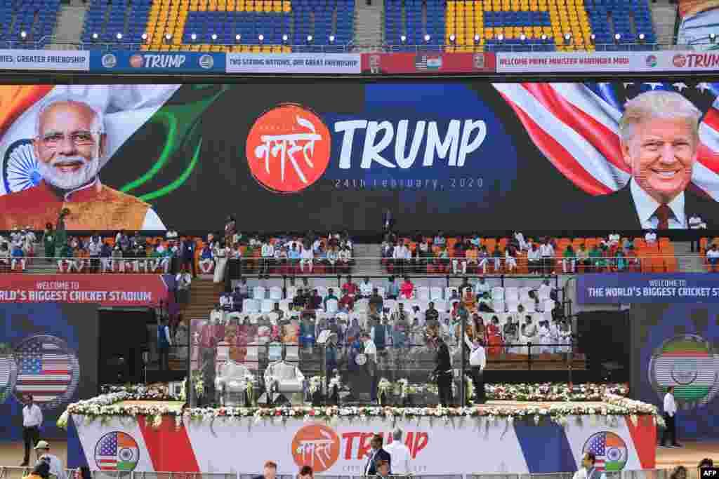 محل سخنرانی پرزیدنت ترامپ در ورزشگاه احمدآباد