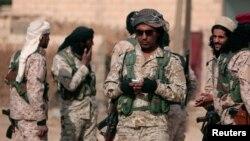 14일 시리아 히샤에서 이슬람수니파무장조직ISIL로 부터 마을을 탈환한 시리아민주군.