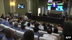 Tojikiston Ichki ishlar vaziri Ramazon Hamro Rahimzoda bilan matbuot anjumani, Dushanbe, 30-iyul, 2018