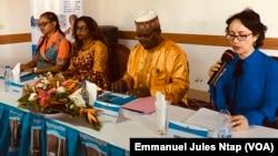Elecam et ONU Femmes, partenaires du plaidoyer sur le genre en politique à Yaoundé, le 24 octobre 2019. (VOA/Emmanuel Jules Ntap)
