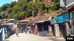 وادی نیلم میں واقع اٹھ مقام کا بازار