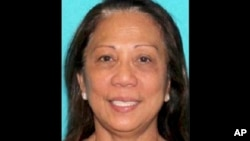 This undated photo provided by the Las Vegas Metropolitan Police Department shows Marilou Danley. Danley, 62, returned to the United States from the Philippines on Oct. 3, 2017, and was met at Los Angeles International Airport by FBI agents.