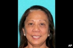 This undated photo provided by the Las Vegas Metropolitan Police Department shows Marilou Danley. Danley, 62, returned to the United States from the Philippines on Oct. 3, 2017, and was met at Los Angeles International Airport by FBI agents, according to law enforcement officials.