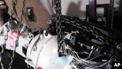 Hình ảnh được phổ biến hôm 4/12 cho thấy 1 thiết bị trong chuyến hàng trên xe tải chở vật liệu phóng xạ nguy hiểm bị đánh cắp ở tiểu bang Hidalgo, phía bắc thành phố Mexico