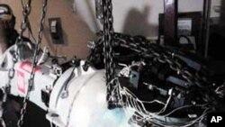 Imágen del cabezal que contenía el cobalto-60 robado, extremadamente radiactivo, el cual fue hallado cerca del Estado de México.
