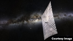 An artist's rendition of LightSail and the Milky Way (Image: The Planetary Society)