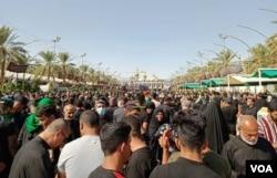 کربلا میں عقیدت گزاروں کا ہجوم