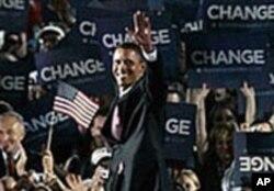 Barack Obama, na convenção democrática de 2008