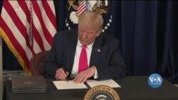 Трамп підписав серію виконавчих наказів, мета яких – допомогти американцям впоратися із наслідками пандемії. Відео