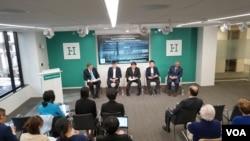 미국 워싱턴의 민간단체인 허드슨연구소가 지난 3월 북한군 출신 탈북민들을 초청해 '자유를 향한 불시착'이란 제목으로 토론회를 열었다.
