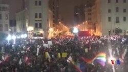 秘魯大規模遊行反對總統候選人藤森慶子
