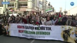 Filistinli Kadınlar İçin İstanbul'da Yürüyüş Düzenlendi