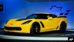 Ševrolet korveta Z06 predstavljena na 2014. Međunarodnom severnoameričkom sajmu automobila u Detroitu, 14. januar 2014.