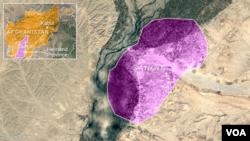 Letak wilayah Sangin, provinsi Helmand, Afghanistan.